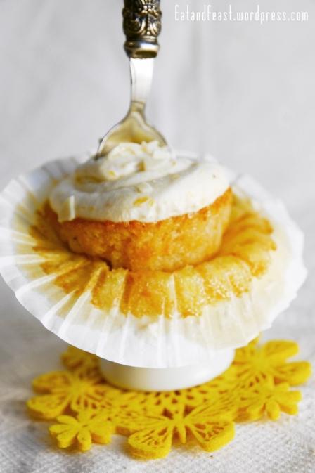 fruchtige Pfirsich Cupcakes