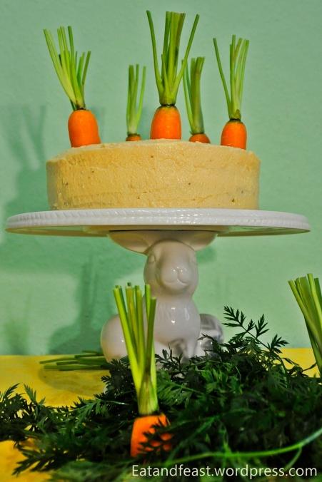 Carrot Cake mit Cheesecake Füllung